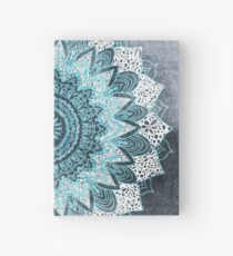 BOHOCHIC MANDALA IN BLUE Hardcover Journal