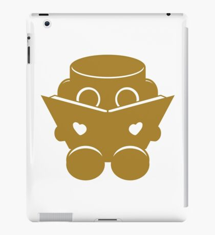 O'BOT: Love a Book (Gold) 1.0 iPad Case/Skin