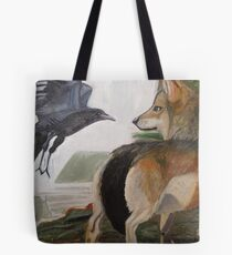 The Wolf & The Crow  Tote Bag
