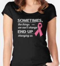 Breast Cancer Awareness Shirt  Women's Fitted Scoop T-Shirt