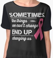 Breast Cancer Awareness Shirt  Chiffon Top