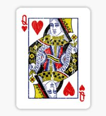 Queen of Hearts Playing Card Sticker
