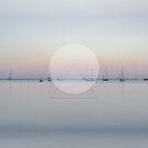 Calm Waters Sailboats Geometric by artsandsoul