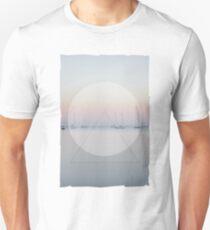 Calm Waters Sailboats Geometric Unisex T-Shirt