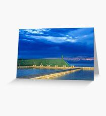 Newcastle Ocean Baths Sunrise Greeting Card