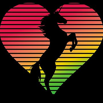 Unicorn Rainbow Heart by marke770