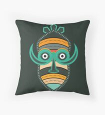 Authentic African Mask Throw Pillow