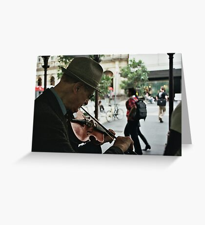 Violinist Greeting Card