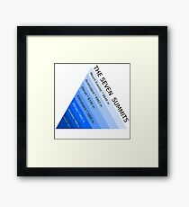 The Seven Mountain Summits Framed Print