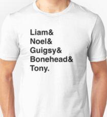 Oasis Helvetica White. T-Shirt