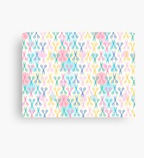 Hair Scissors Pastel Pattern Canvas Print