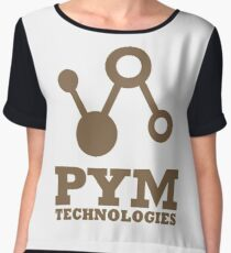 Pym Technologies - Gold Chiffon Top