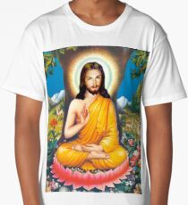 buddha christ Long T-Shirt