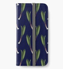 Wild Ramps | Leek Onions Repeating Pattern iPhone Wallet/Case/Skin