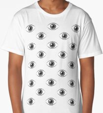 Eyes Wide Open - on Black Long T-Shirt