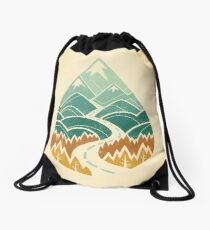 The Road Goes Ever On: Autumn Drawstring Bag