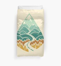 The Road Goes Ever On: Autumn Duvet Cover