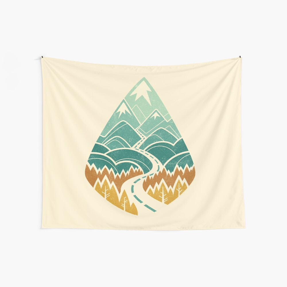 The Road Goes Ever On: Autumn Wall Tapestry