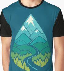 The Road Goes Ever On: Summer Graphic T-Shirt