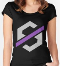 Null Sector Logo Women's Fitted Scoop T-Shirt