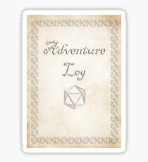 Adventure Log Sticker