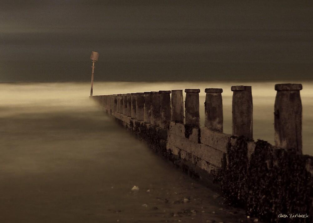 Misty Groynes by Glen Birkbeck