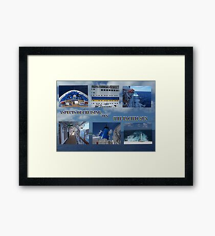 Cruising the Blue  Framed Print