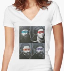NINJA TURTLES RENAISSANCE Women's Fitted V-Neck T-Shirt