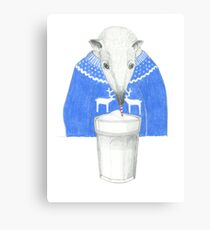 coffeedrinking anteater Canvas Print