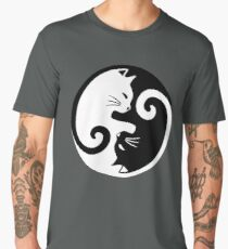 Yin Yang Cat Men's Premium T-Shirt