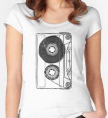 Vintage Retro Mixtape Old School Eighties 80s Cassette  Women's Fitted Scoop T-Shirt