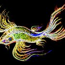 Neon Koi Fish by Linda Callaghan