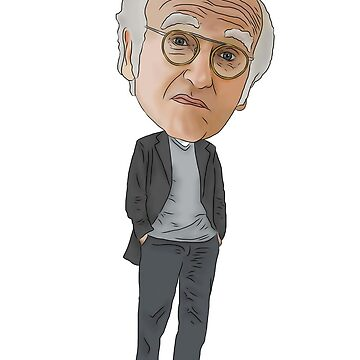 Larry David Curb Your Enthusiasm Inspired Illustration by MelancholyDoll