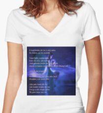 jaane kaise Women's Fitted V-Neck T-Shirt