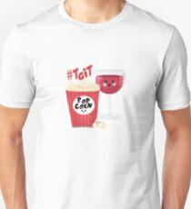 wine and popcorn Unisex T-Shirt