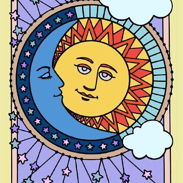 Sun Moon And Stars by StephanieBrock