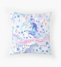 Unicorn Dreams Throw Pillow