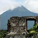 cathedral and volcano, Guatemala by Peter Fletcher