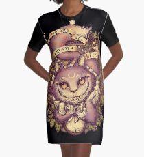 CHESHIRE CAT Graphic T-Shirt Dress