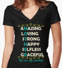 Mother Amazing Women's Fitted V-Neck T-Shirt