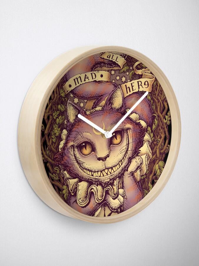 Alternate view of CHESHIRE CAT Clock