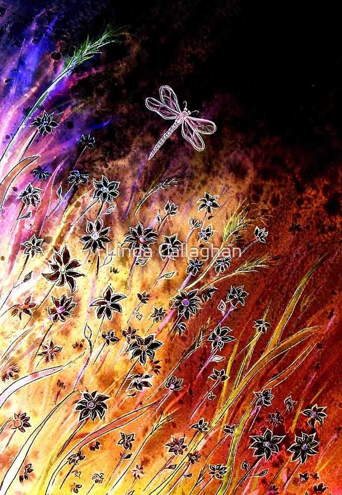 Moonlight Dance - Flowers by Linda Callaghan