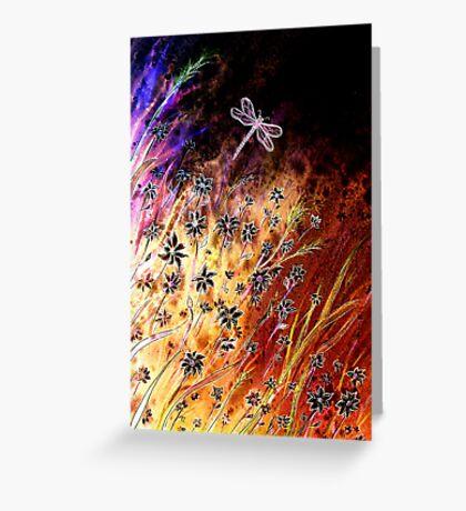 Moonlight Dance - Flowers Greeting Card