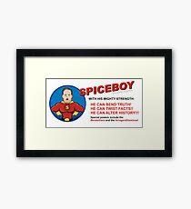 Spicy Boy Framed Print