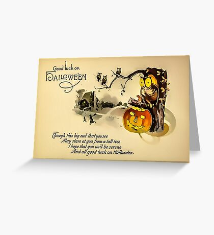 Good Luck On Hallowe'en Greeting Card