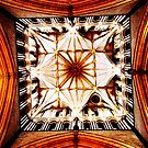 Looking up: Inside the Tower of Lincoln Cathedral by Robert Steadman