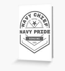 Navy Chief, Navy Pride Greeting Card