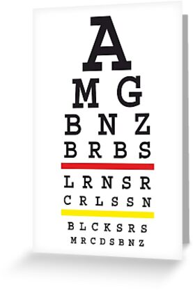 Tuned MB cars Snellen eye test with German flag by 710Designs