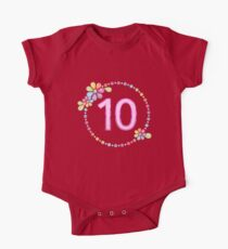 Charming 10th Birthday Shiny Rainbow Jewel Cute Gift Kids Clothes