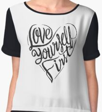 Love yourself first - heart  Chiffon Top